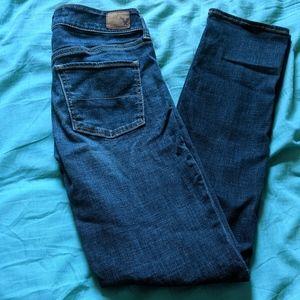 American Eagle Straight Super Stretch Blue Jeans 4